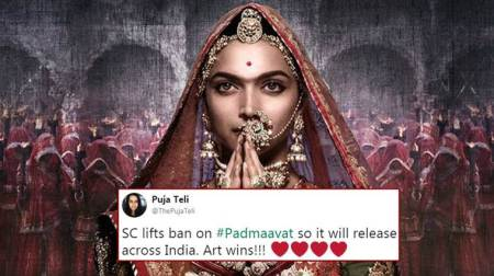 Padmaavat ban gets a stay by Supreme Court; Twitterati hail the judgment