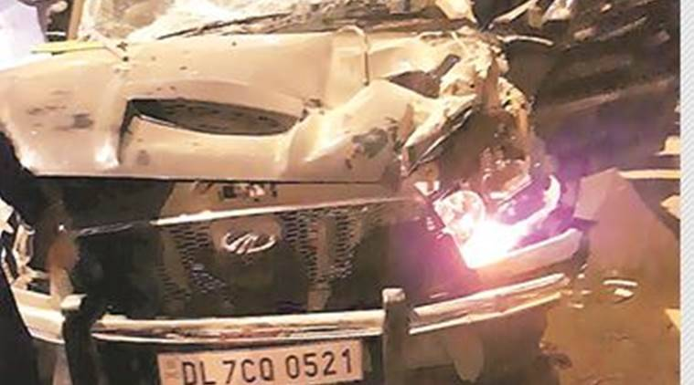 Delhi Accident, Mehrauli Accident, Delhi Road Accident, SUV, Delhi News, Latest Delhi News, Indian Express, Indian Express News