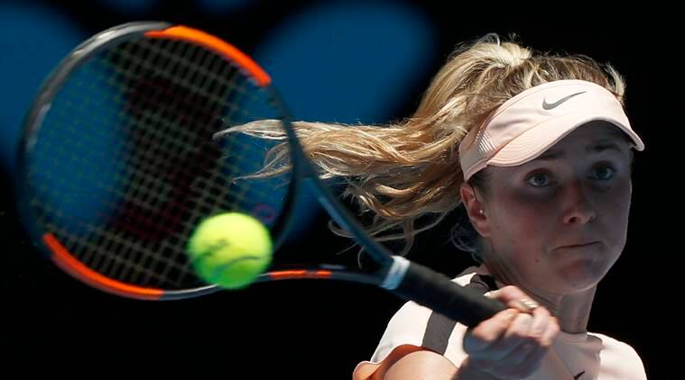 Elina Svitolina against Katerina Siniakova at Australian Open