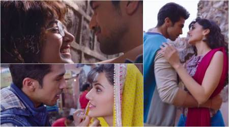 Dil Juunglee song Gazab Ka Hai Din: Taapsee and Saqib recreate Aamir and Juhi's chemistry