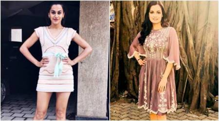 Taapsee Pannu's cake dress or Dia Mirza's easy-breezy outfit: Which one do you prefer?