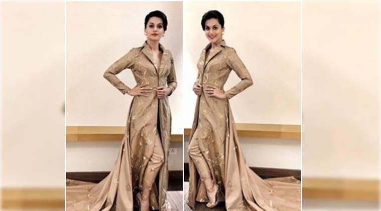 Taapsee pannu s trench coat inspired outfit reminds us of priyanka