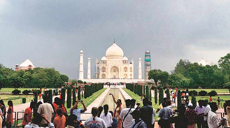 Taj Mahal, Taj Mahal rush, Taj Mahal tourists, Archaeological Survey of India, visitors allowed to visit Taj mahal, Uttar Pradesh, indian express
