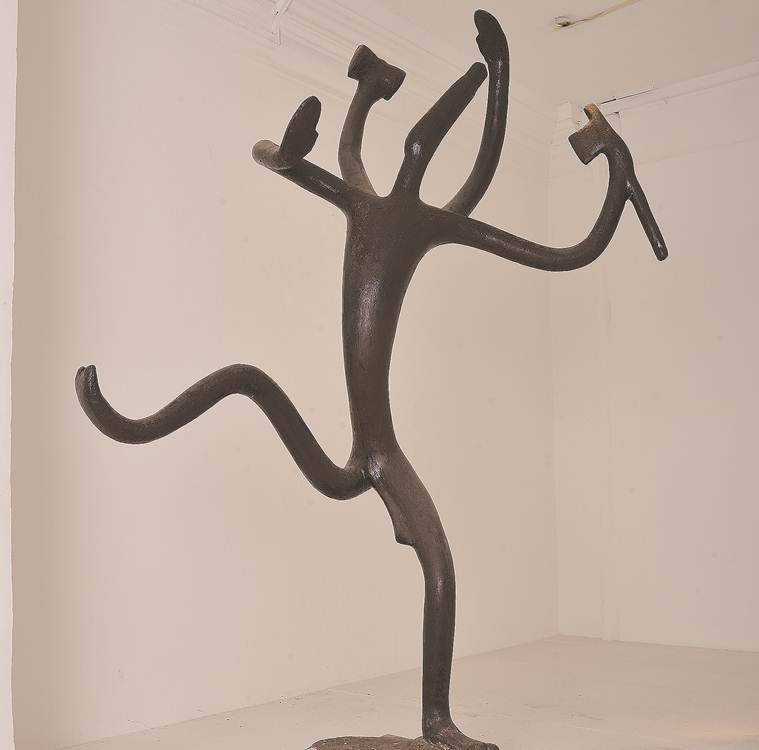 Dhanraj Bhagat, sculptor, indian artists, dhanraj bhagat exhibition, NGMA, indian sculptors, indian express, indian gods in art forms
