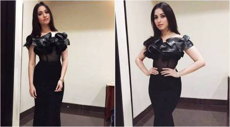 Tamannaah Bhatia proves black is beautiful in this metallic-ruffle gown