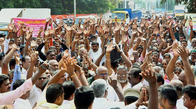 Tamil Nadu transport employees TN transport employees strike Tamil Nadu transport strike TN dharnas Indian Express news
