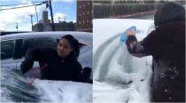 'Clueless' Texans find weird ways to scrape ice from cars, and it's hilarious!