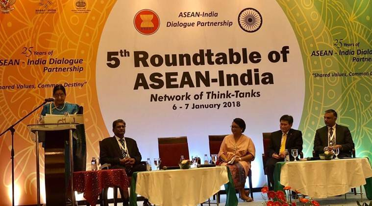 Sushma Swaraj in Indonesia, ASEAN