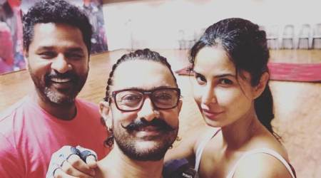 Aamir Khan, Katrina Kaif rehearse with Prabhudeva for Thugs of Hindostan dance number