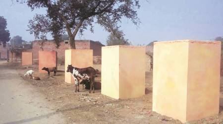 Hundred toilets in Akhilesh Yadav's Etawah painted saffron, government denies role