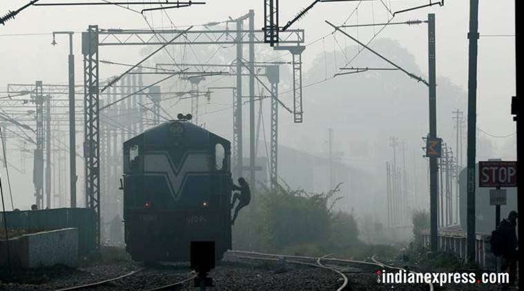 At least 10 trains were cancelled, 19 delayed while three were rescheduled due to fog in some parts of northern India on Monday.