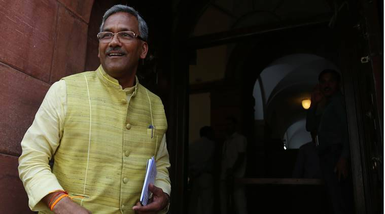 Trivendra Singh Rawat, Uttarakhand Govt, BJP, media in government offices, reporters in Govt offices, indian express