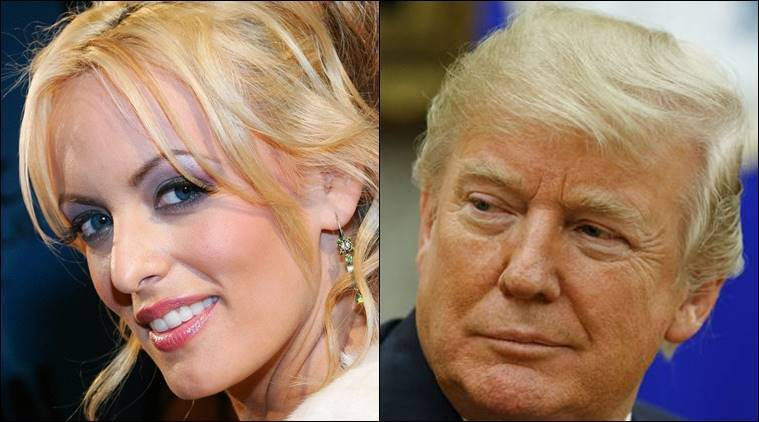 Donald Trump, Stormy Daniels, Trump affair, Trump and pornstar affair, Stephanie Clifford, In Touch, Wall Street Journal, Indian Express