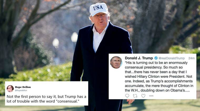 'Some genius': Trump hilariously mocked for touting his enormously 'consensual' presidency