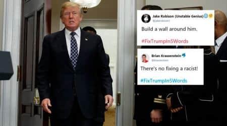 donald trump, trump tweets, trump shithole remark, fix trump twitter trend, trump memes, trump trolling, trump tweets, world news, indian express