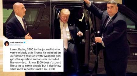 Writer offers $300 to any journo who asks Donald Trump about 'Wakanda' (think 'Black Panther'); Twitterati offer to crowdfund