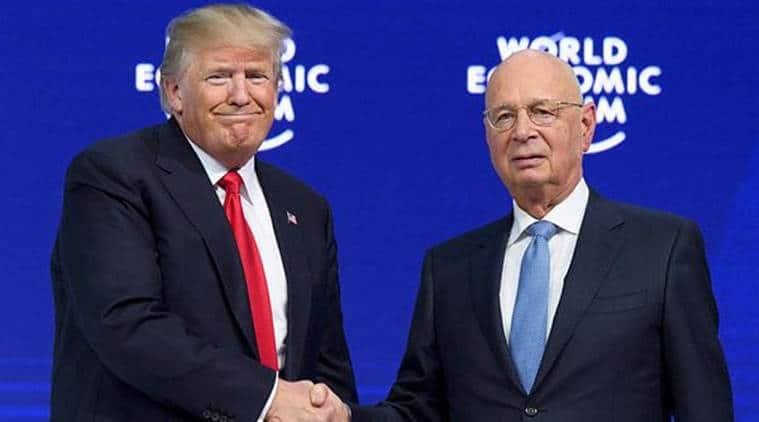 donald trump, davos summit, us president trump in davos, world economic forum, klaus schwab, trump in davos, WEF