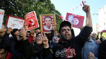 Violent protests resume in Tunisia after two days ofcalm