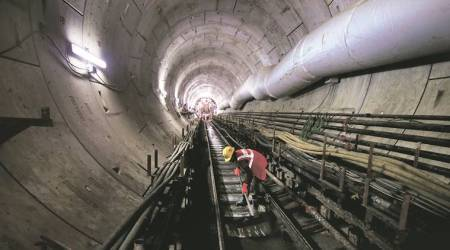 Micro tunneling in railway stations