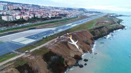 Pegasus Airlines flight skids off Turkish runway on Black Sea coast, passengers escapeunhurt