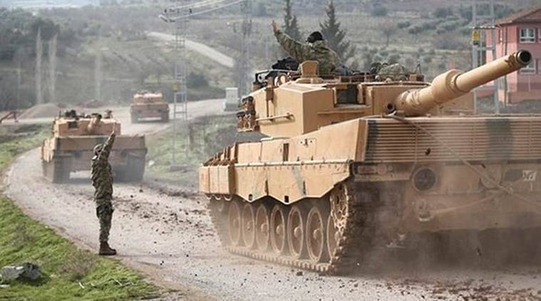 Turkish artillery fire, Syria Turkish artillery fire, Turkish artillery fire hits Syrian Border, Syrian Border Turkish artillery fire, Turkish Military, World News, Latest World News, Indian Express, Indian Express News