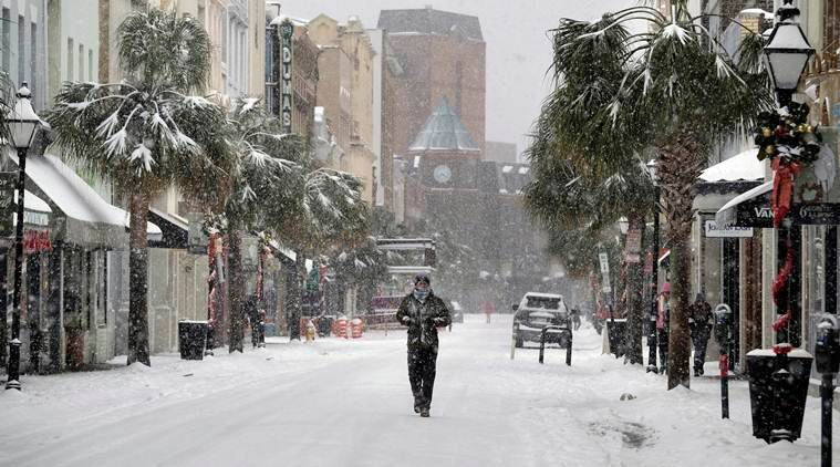When will Snow Bomb Cyclone end stop?