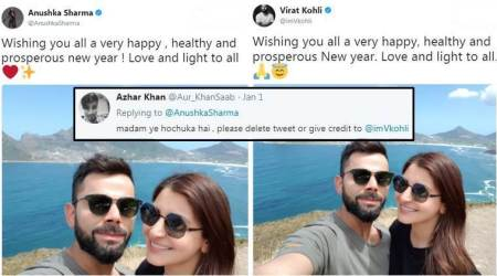 Virat Kohli and Anushka Sharma are posting same photos with same caption; Twitteratti are very amused
