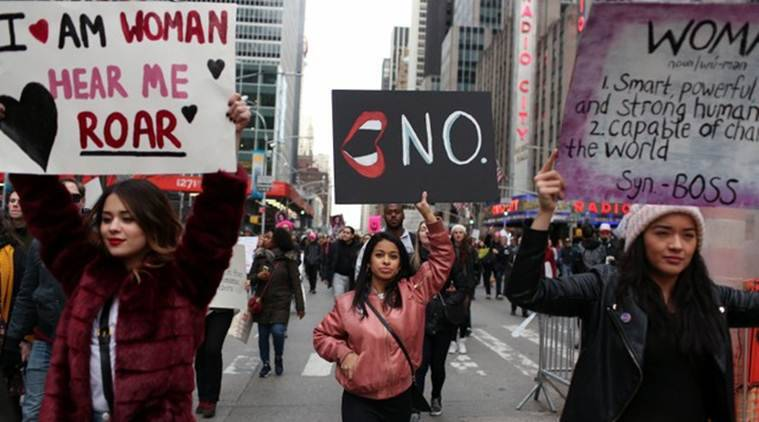 Donald trump, Trump's second year, United states, women's protests, US women protests, Donald Trump, Republican Party, Democratic Party, women's march,