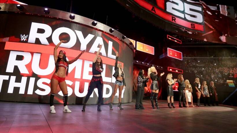 WWE female athletes were honoured