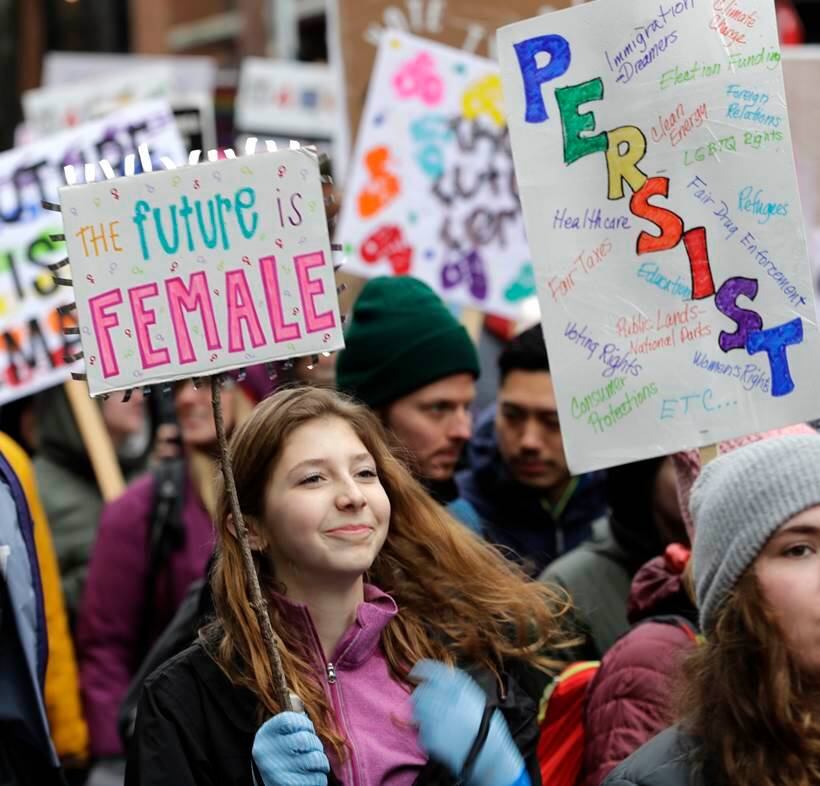 womens march photos, anti trump rally pictures, donald trump protest images, womens rally us pics, united states, america women protest pics, indian express