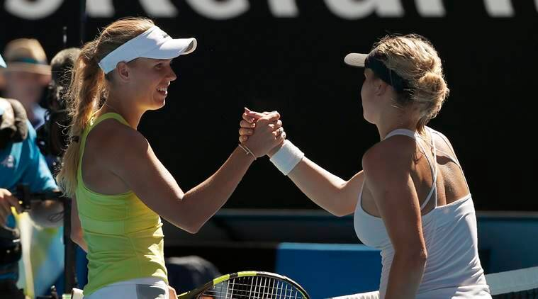 Caroline Wozniacki survived an early scare at the Australian Open