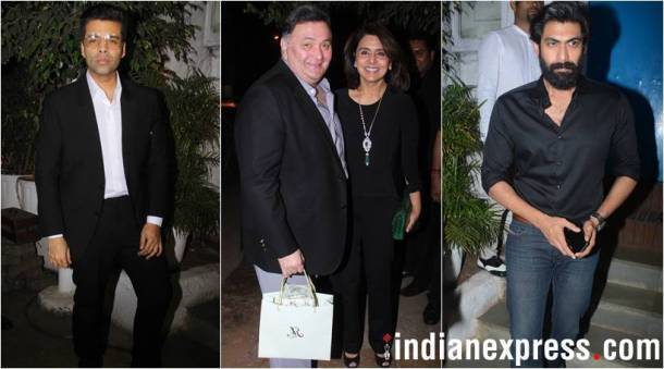 latest photos from manmohan shetty birthday bash, karna johar, rishi kapoor, rana daggubati