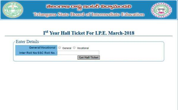 inter hall ticket 2018, tsbie.cgg.gov.in, tsbie inter exam hall ticket