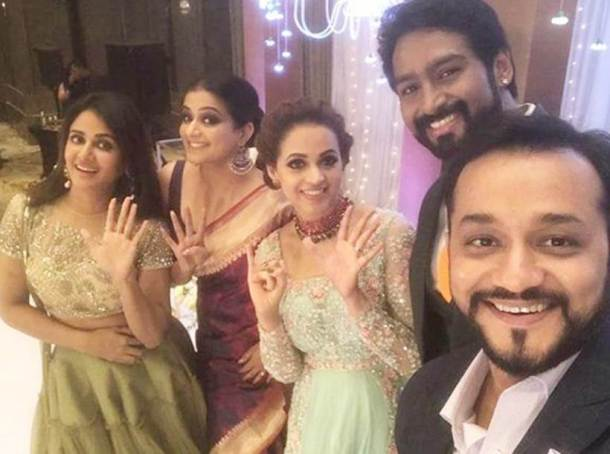 Bhavana and Naveen reception photos