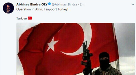 Abhinav Bindra's Twitter account hacked by Turkish hackers