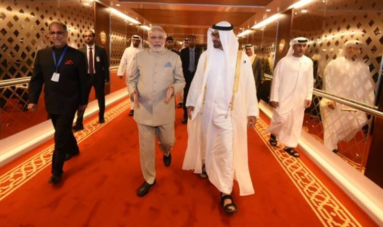 Modi witnesses temple foundation stone laying in UAE