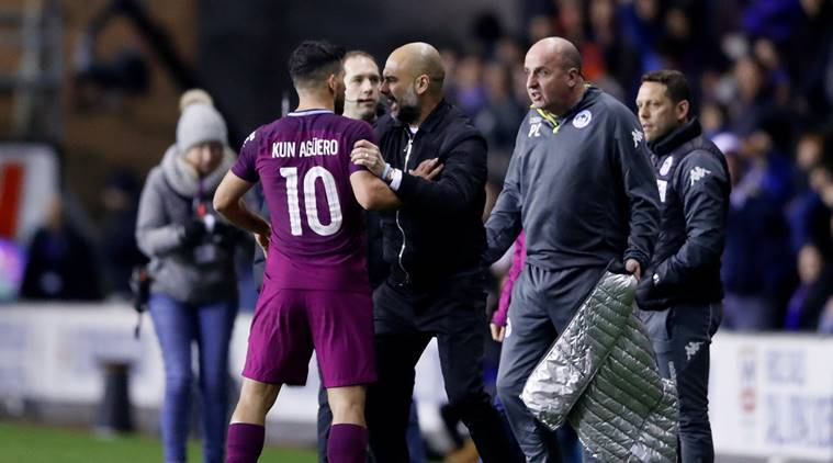 Sergio Aguero involved in clash with Wigan fan after Manchester City's defeat