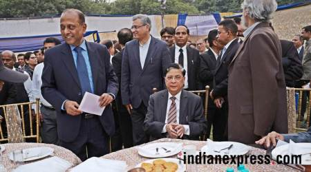 amitava roy, sc judges, sc judge retirement party, sc judge amitava roy, supreme court crisis, indian express