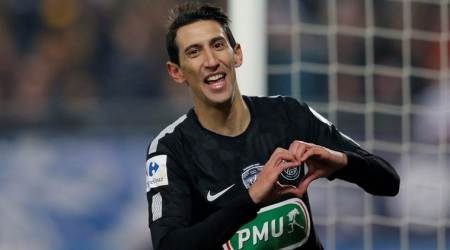 psg beat with angel di maria's hat trick.