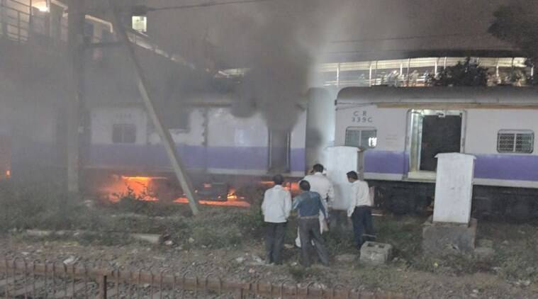 Mumbai: Fire inside local train stationed at Dadar Station, rail services hit
