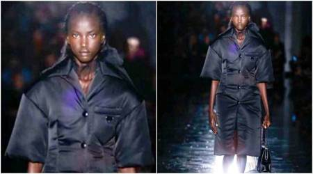 Anok Yai becomes second black model to open a Prada show, 20 years after Naomi Campbell