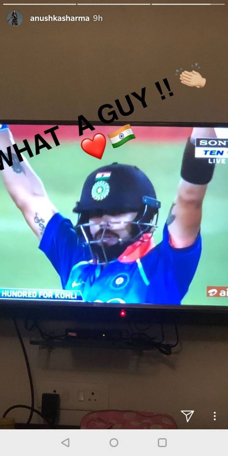 anushka sharma applauds virat kohli