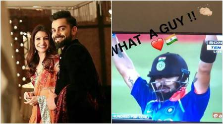 Anushka Sharma applauds Virat Kohli's century against South Africa, he credits his win to her