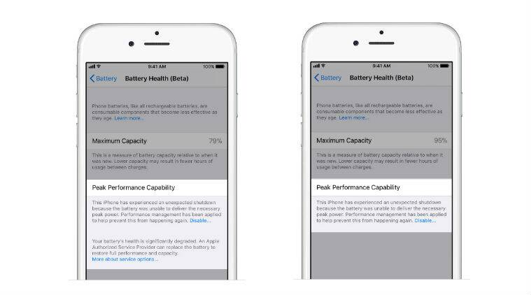 Apple, Apple iPhone, Apple iPhone battery, iPhone battery feature, Apple iOS 11.3 beta, iOS 11.3 beta, Apple iPhone battery management, Apple Battery Health feature