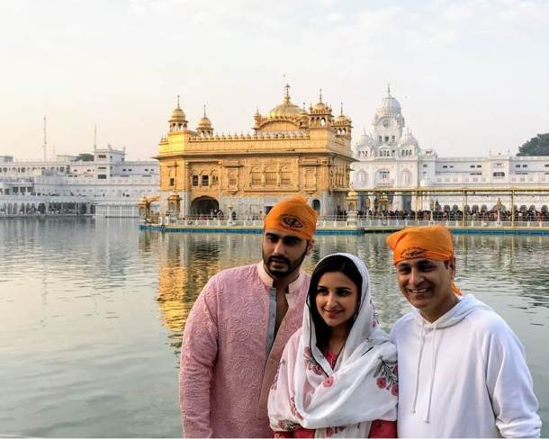 Arjun Kapoor, Parineeti Chopra Golden Temple