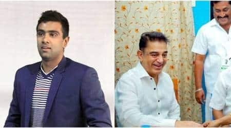 R Ashwin hopeful of 'massive change' as Kamal Haasan launchesparty