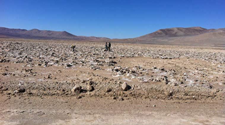Atacama Desert Mars Copy Man Fighting For Life After