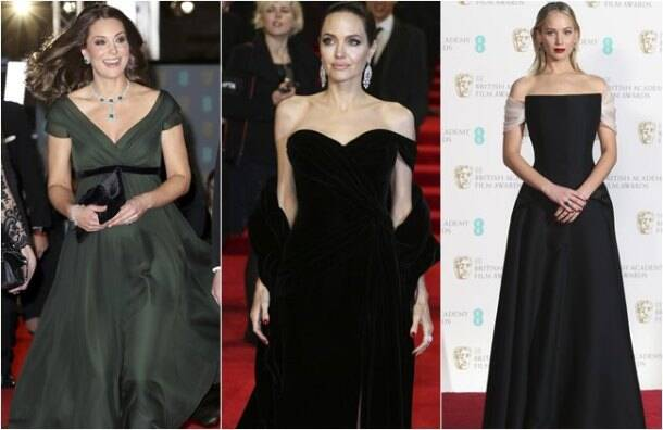 BAFTA 2018, BAFTA red carpet, Kate Middleton BAFTA, Kate Middleton no black dress, BAFTA Time's Up, BAFTA black dresses, indian express, indian express news