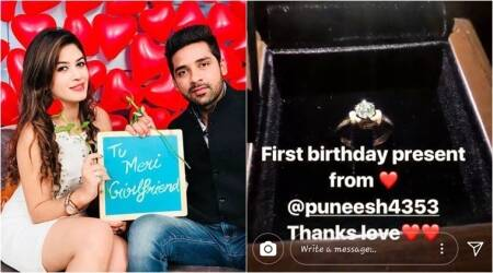 Bigg Boss 11 contestant Bandgi Kalra rings in birthday with beau Puneesh Sharma