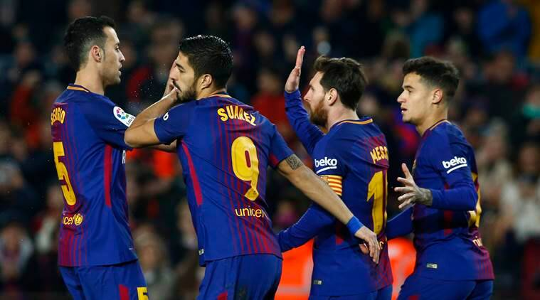 Lionel Messi, Luis Suarez combine for 5 goals as Barcelona beat Girona 6-1